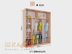 Sliding wardrobe B226 standard