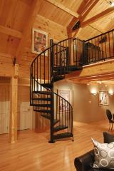 Shod spiral staircases