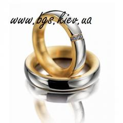 Rings wedding from the producer, a ring under the