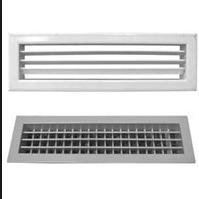 Metal ventilating grates, metalwork