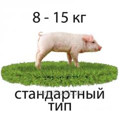 BMVD of 25% for pigs absence (ST) from 8 to 15 kg
