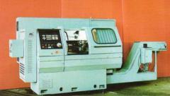 The machine turning and revolving with ChPU