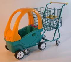 The LUPO cart with a car for the child