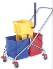 The cart and akssesuara for cleaning