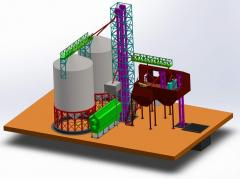 Conical bottom silos