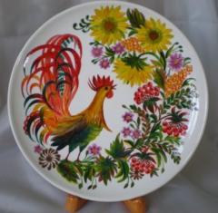 Керамическая тарелка (ручная роспись)