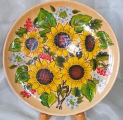 Керамическое блюдо (тарелка керамическая ручной