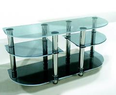 Little table rack from glass for plasma TVs.