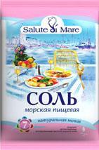 Salt natural food sea Salute di Mare small in soft