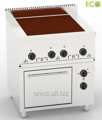 Commercial electric stove with oven Orest PE-4-W