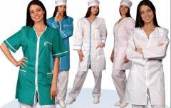 Различная спецодежда для медицинских учреждений под заказ
