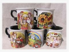 Чашки керамические