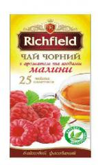 Tea in Richfield bags of aroma of raspberry
