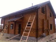 Set of the wooden house for expor