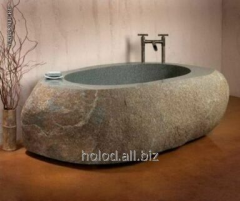Sink from a natural stone