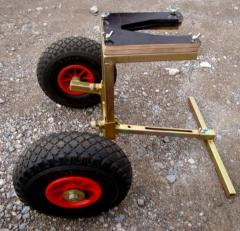 The cart (support) for duple motors