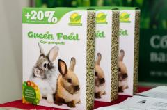 Forage for decorative rabbits of TM Green Feed