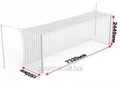 Ворота футбольные стационарные с стойками