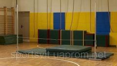 Racks for high jumps, sports goods