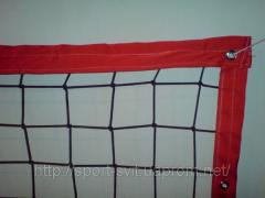 Beach volleyball net of 8 m (having sheathed 4