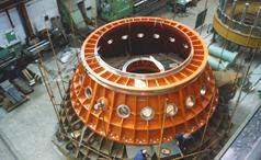 Horizontal capsular water-wheels