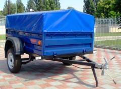 The KRKZ-100 trailer, height of a board is 450 mm