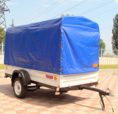 The utility trailer for the KRKZ-200 car. To the