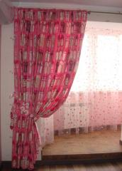 Fabrics for curtains, curtains Kiev from the