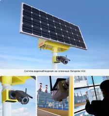 Система видеонаблюдения на солнечной