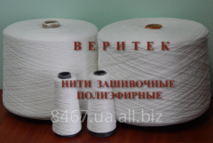 Polyester threads for sewing of bags