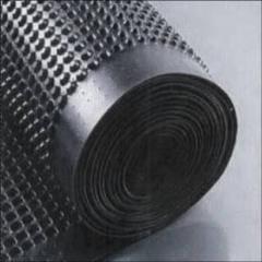 Профилированная мембрана ИЗОСТУД 400 для защиты стен фундаментов, гидроизоляции, дренажа