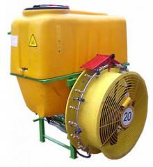 Garden sprayers mounted fan 200 l. Italian kitting