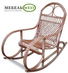 Wicker furniture from a rod, the Rocking-chair