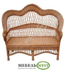 Production of a wicker furniture, the Bench