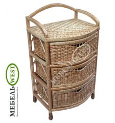 Wicker furniture from a rod, the Dresser
