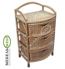 Плетеная мебель из лозы, Комод Дутый