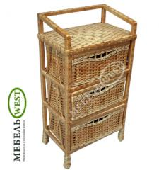 Wicker furniture from a willow, the Dresser Simple