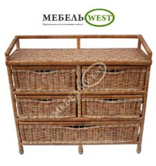 Production of a wicker furniture, Dresser Big