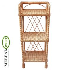Wicker furniture cheap, Polk from a rod (3 tiers)