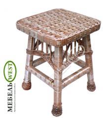 Плетеные стулья для кухни, Табурет из лозы