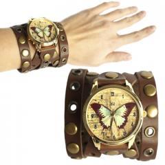 Часы наручные Ziz Бабочка коричневая