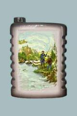 The flask is souvenir, gift Fishing of 0,5 l, to