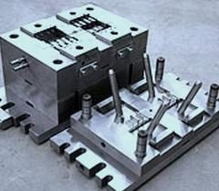 Compression molds for production of a brick