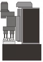 Станок АХТ-01 - производится обработка 8 отверстий диаметром 26+0,52мм