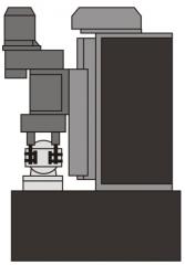 Станок АХТ-03 для обработки детали «Державка петли люка» ОСТ24.151.10.02-77, производится сверление отверстий диаметром 27Н15мм в 4-х деталях одновременно с поворотом зажимного приспособления на 180 град
