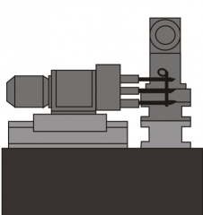 Станок АХТ-04 - производится сверление 3-х отверстий диаметром 17Н14мм и отверстия диаметром 27Н15мм.