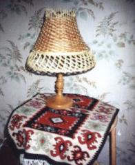 Лампа настольная плетеная Вензель