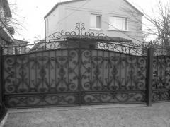 Ворота кованые под ключ (ВК28)