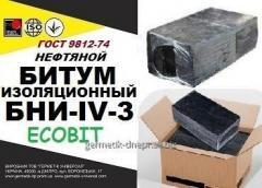 Битум БНИ-IV-3 нефтяной изоляционный ГОСТ 9812-74