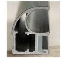 The profile anodized aluminum for sliding